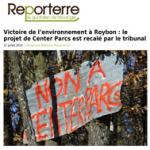 Victoire de l'environnement à Roybon: le projet de Center P